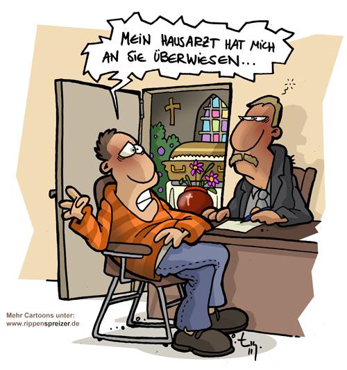 Rippenspreizer Cartoon