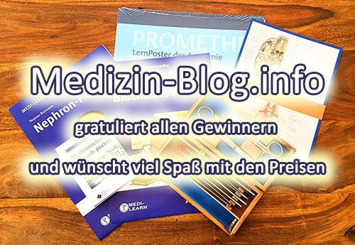 Medizin-Blog.info gratuliert allen Gewinnern unseres Ersti-Gewinnspiel