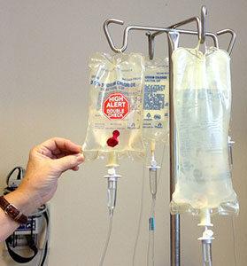 Eine Chemotherapie kann bei einigen Krebserkrankungen wirksam sein.