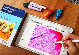 Viele Studenten verwenden Tablets und eBook-Reader zum Lernen.