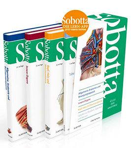 Das Sobotta-Paket beinhaltet 3 Anatomie-Atlanten und ein Tabellenheft.