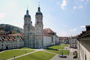 Die Stiftskirche in St. Gallen in der Schweiz.